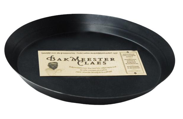 taart-pizzavorm 30 cm staal zwart
