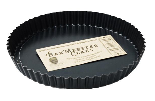 taartvorm 32 cm staal zwart