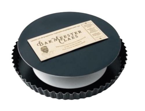 taartvorm met losse bodem 27 cm zwart 2-delig