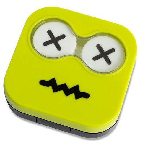 contactlenshouder Emoji 6,7 x 6,5 cm groen
