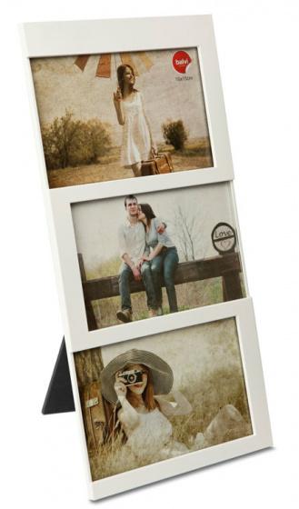 fotolijst Dijon 34,5 x 16,3 cm wit 3 foto\'s