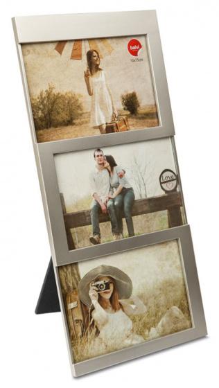 fotolijst Dijon 34,5 x 16,3 cm zilver 3 foto\'s