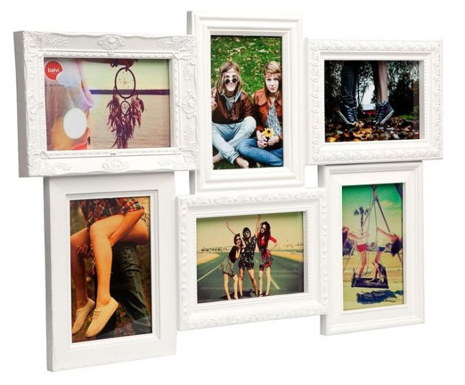 fotolijst Magic 6 foto\'s 28,5 x 44,5 cm wit