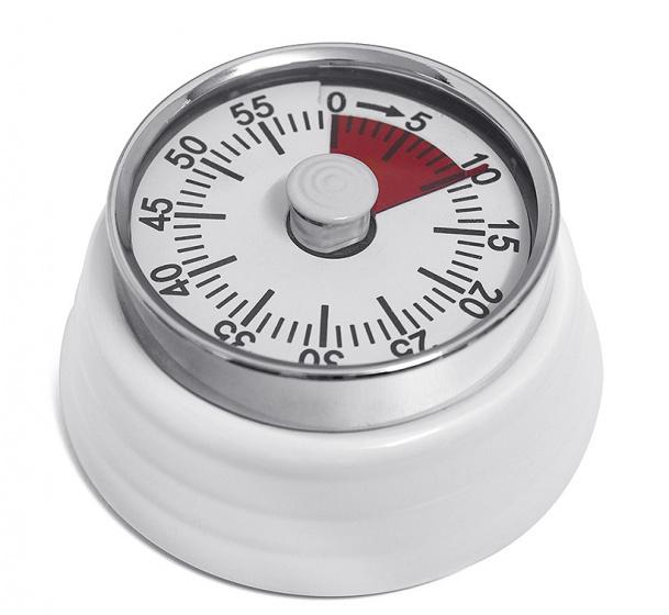 kookwekker magnetisch Bumpy 7,3 x 3,5 cm metaal wit