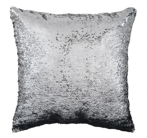 kussen Magic 40 x 40 cm polyester zwart/zilver