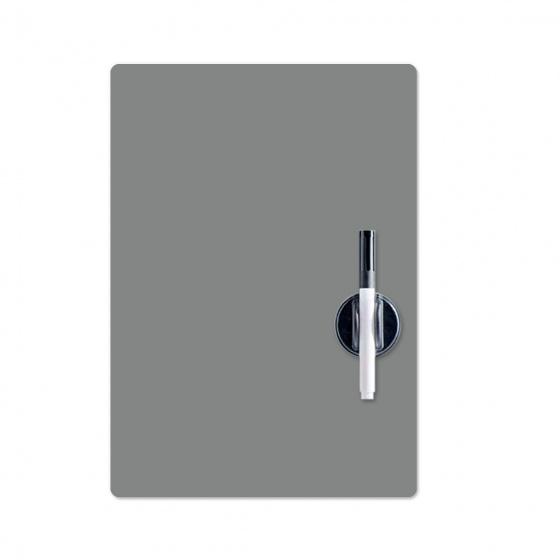magnetisch memobord 42 x 30 cm polypropyleen grijs