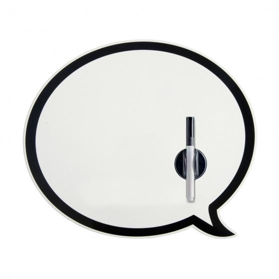 memobord magnetisch Talking Bubble 33 cm metaal 2-delig