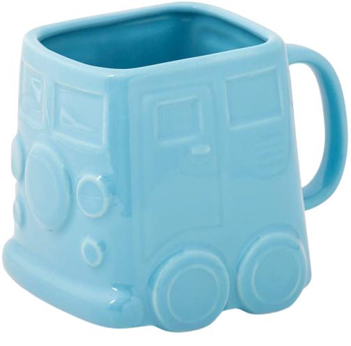 mok Busje 500 ml 9,8 x 12,5 cm keramiek blauw