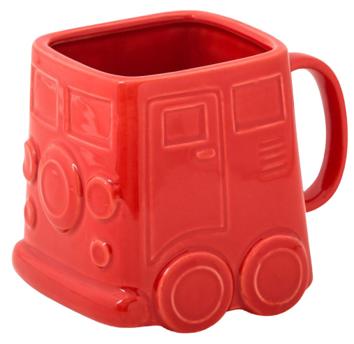 mok Busje 500 ml 9,8 x 12,5 cm keramiek rood