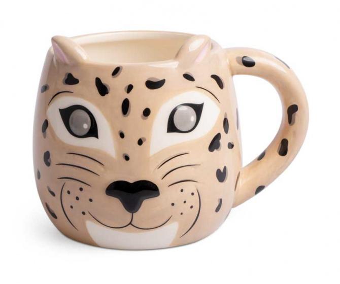 mok Leopard 500 ml keramiek beige
