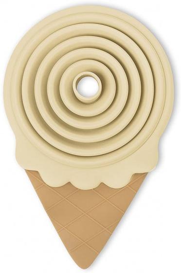 trechter IJsvorm opvouwbaar 13,8 x 8,5 cm siliconen crème
