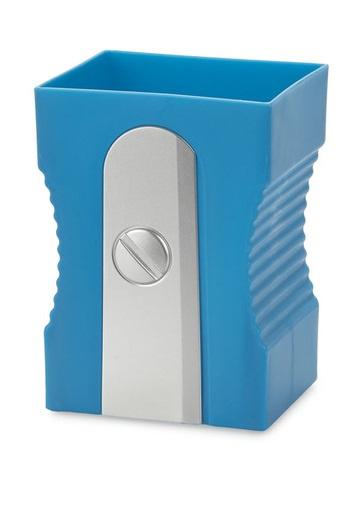 pennenbakje puntenslijper 11,5 x 8,5 cm blauw