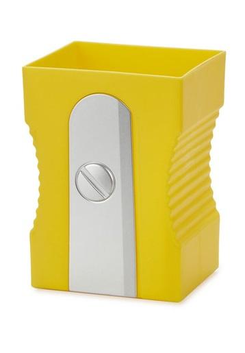 pennenbakje puntenslijper 11,5 x 8,5 cm geel