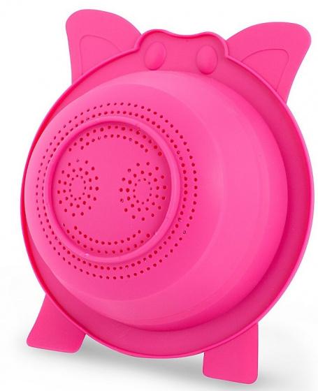 vergiet Oink! 23,8 x 9 cm siliconen roze