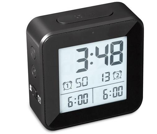 wekker digitaal 8,2 cm lcd-scherm ABS zwart