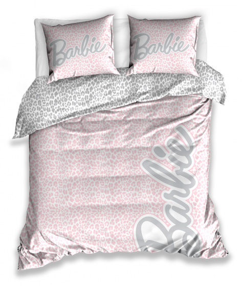dekbedovertrek Barbie dames 220 x 200 cm katoen roze
