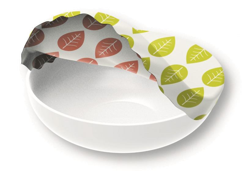 vershoudhoes Vegan 36 cm katoen rood/groen