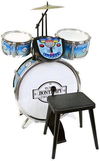 drumstel RockDrummer met tutor 4-delig blauw