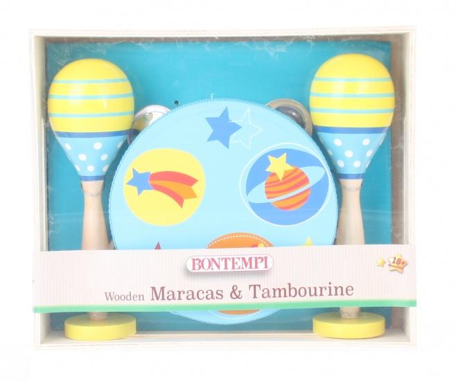 houten sambaballen en tamboerijn blauw