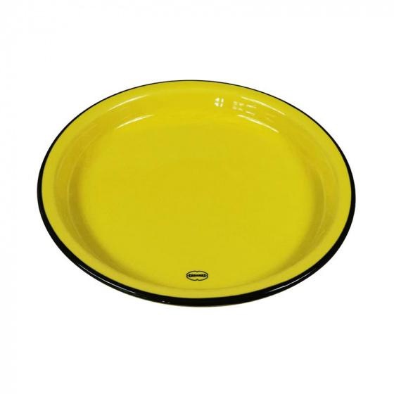 eetbord Medium 22 cm keramiek geel