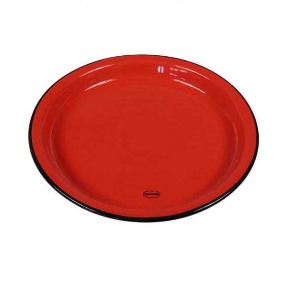eetbord Medium 22 cm keramiek rood