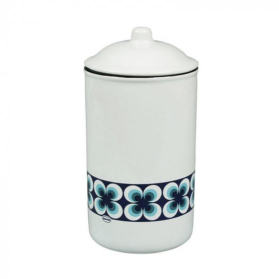 voorraadpot Ramona 1 liter keramiek wit/blauw