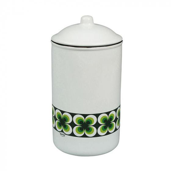 voorraadpot Ramona 1 liter keramiek wit/groen