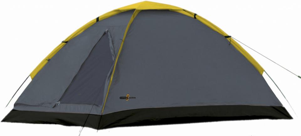 Camp Active koepeltent tweepersoons 200 x 120 cm grijs