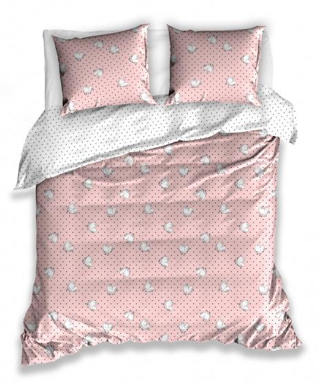 dekbedovertrek Moomin dames 220 x 200 cm katoen roze