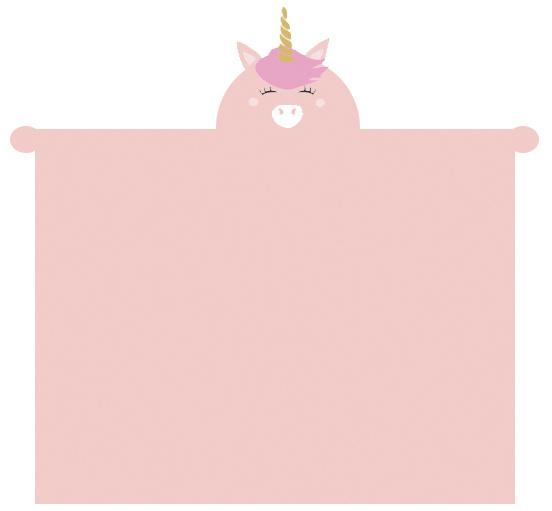 deken Eenhoorn 100 x 140 cm fleece roze