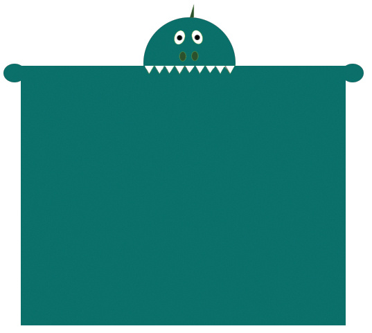deken Monster 100 x 140 cm fleece groen