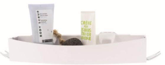 douche- en badrekje 35,6 x 10,2 cm kunstvezel wit