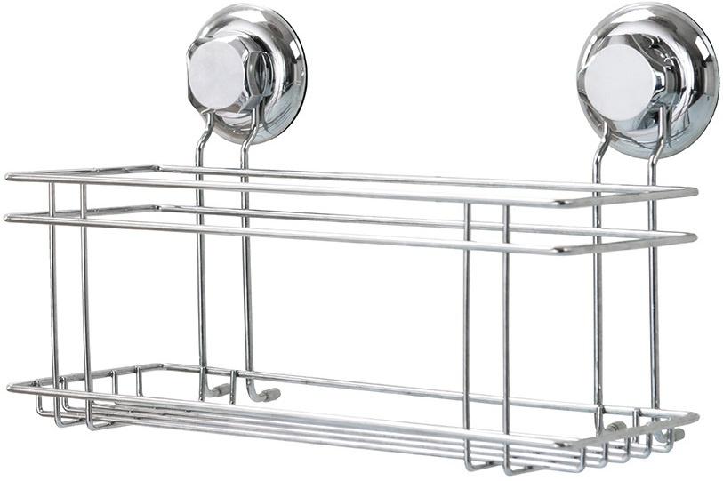 douche- en badrekje 30 cm staal zilver