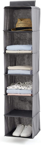 Hangende kledingplank 30 x 30 x 120 cm grijs grijs
