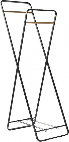 kledingrek 43 x 66 x 153 cm staal zwart