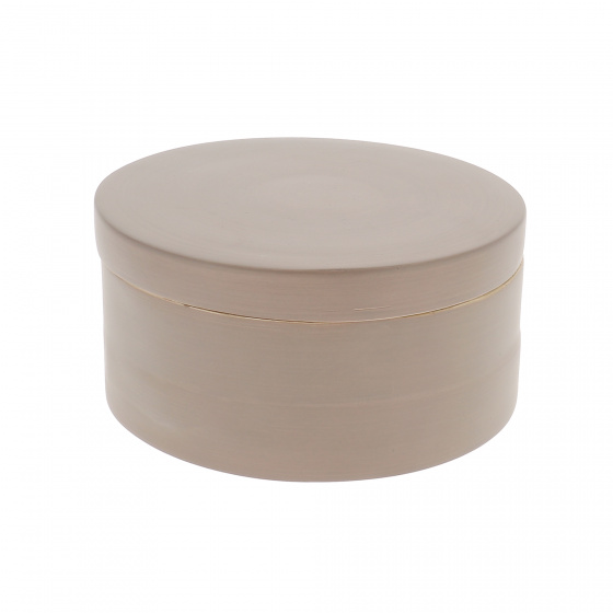 opbergdoos Julie 16 x 8,5 cm bamboe taupe