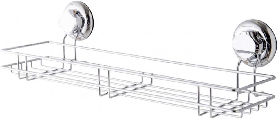 douche- en badrekje 45,5 cm staal zilver
