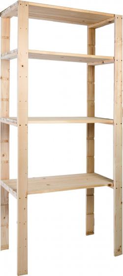 open kast 170 cm hout bruin