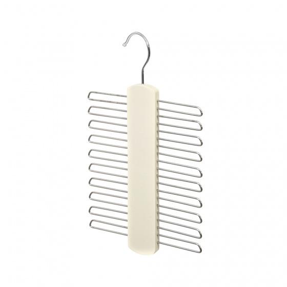 stropdashanger 25 cm staal/kunststof wit/chroom
