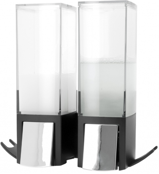 zeepdispenser Clever 620 ml 20,6 cm zwart