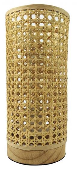 tafellamp E27 12 x 26,5 cm bamboe naturel