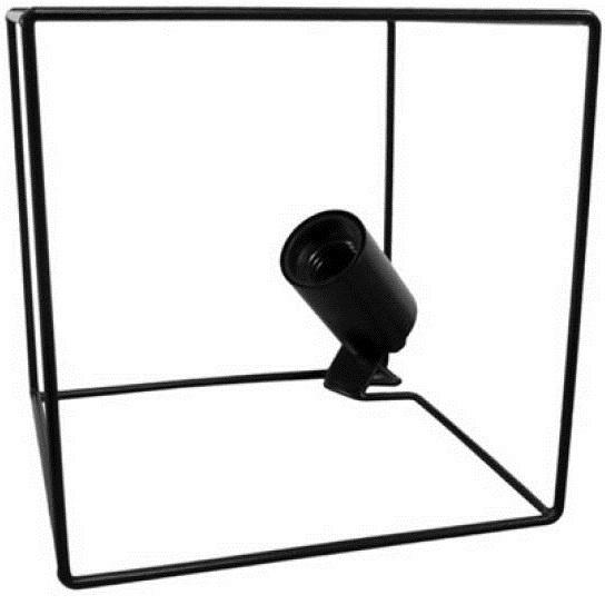 tafellamp 18,5 x 18.5 cm staal zwart