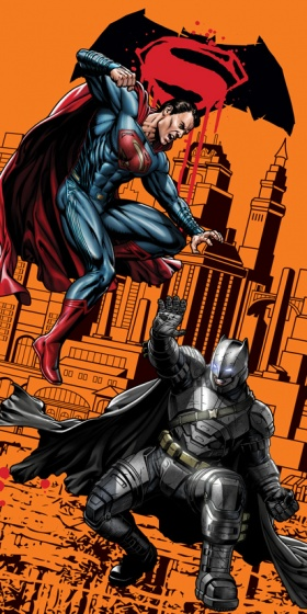 badlaken Batman oranje 70 x 140 cm