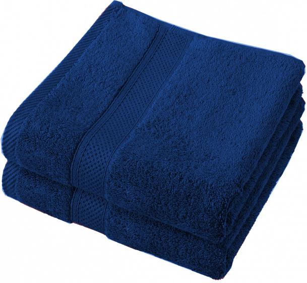 badhanddoek Stephanie 100 x 50 cm blauw 2 st