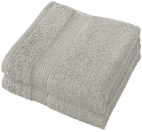 badhanddoek Stephanie 50 x 100 cm grijs 2 stuks