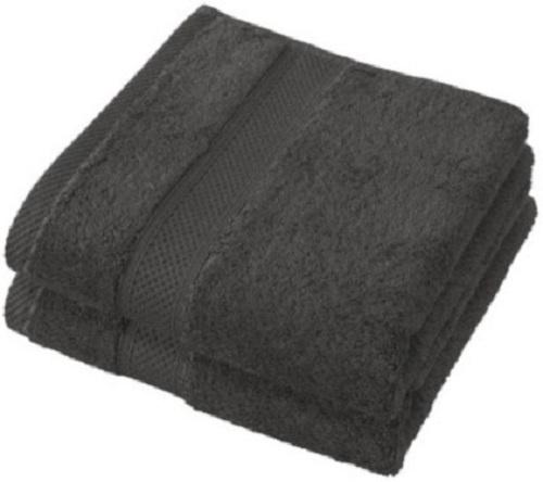badhanddoek Stephanie 50 x 100 cm zwart 2 stuks
