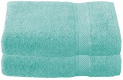 badhanddoek Stephanie 70 x 140 cm blauw 2 stuks