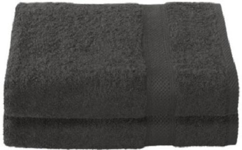 badhanddoek Stephanie 70 x 140 cm zwart 2 stuks
