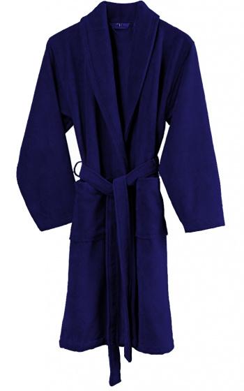 badjas Gentle heren katoen donkerblauw maat M