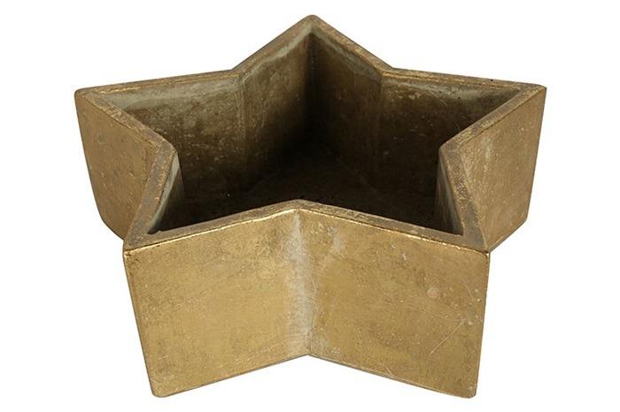 bloempot Henrique 27 cm aardewerk goud
